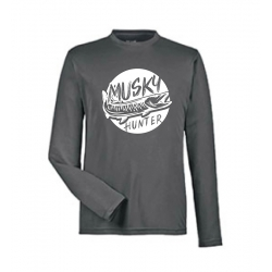 """Performance"" Circle Musky Long Sleeve Shirt - Graphite"