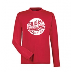 """Performance"" Circle Musky Long Sleeve Shirt - Red"
