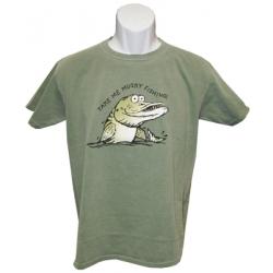 "Kids ""Take Me Musky Fishing"" T-Shirt - Green"