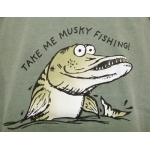 "Youth ""Take Me Musky Fishing"" Green T-Shirts"