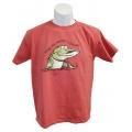 """Kids """"Take Me Musky Fishing"""" T-Shirt - Papaya"""