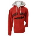Quarter-Zip Hooded Sweatshirt - Red